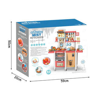 "Bucatarie interactiva si multifunctionala ""Fun Cooking"", 63 cm inaltime"